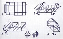 Návod pro složení kartonové krabice